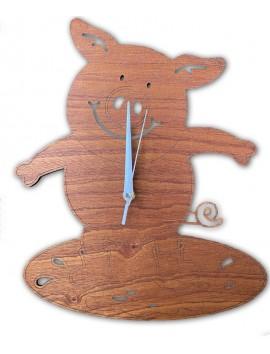 Horloge cochon avec personnalisation | Beau Cadeaux