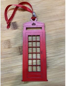 Boîte de téléphone britannique de boule d'arbre de Noël | Beau Cadeaux