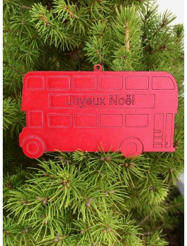 Décoration de sapin de Noël - Bus à impériale | Beau Cadeaux