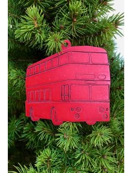 Décoration de sapin de Noël - Bus à impériale #2| Beau Cadeaux
