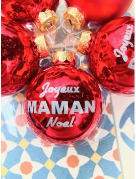 Boule de Noël personnalisée en verre | Beau Cadeaux