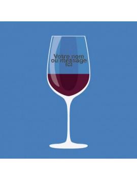 Verre à Vin Personnalisé et Gravé - style 1