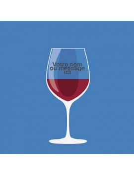Verre à Vin Personnalisé et Gravé - style 2