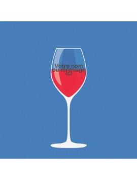 Verre à Vin Personnalisé et Gravé - style 3