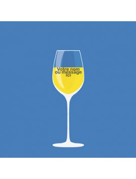 Verre à Vin Personnalisé et Gravé - style 5